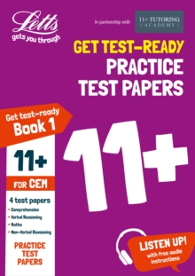 11+ Practice Test Papers (Get test-ready) Book 1, inc. Audio Download: for the CEM tests, Paperback Book