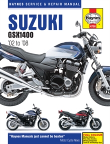 Suzuki GSX1400 Service and Repair Manual : 2002 to 2008, Hardback Book