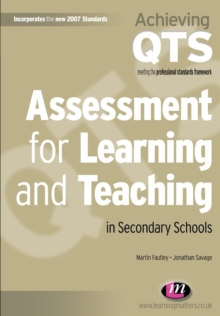 Assessment for Learning and Teaching in Secondary Schools, Paperback Book