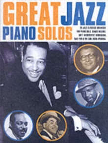 Great Jazz Piano Solos, Paperback Book