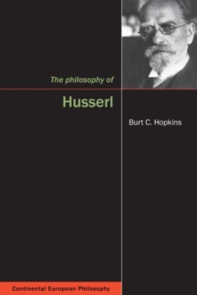 The Philosophy of Husserl, Hardback Book