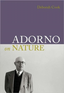 Adorno on Nature, Hardback Book