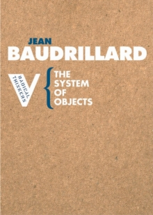 The System of Objects, Paperback Book