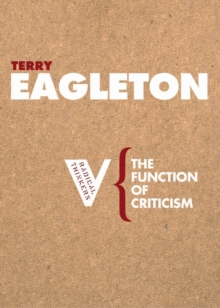 The Function of Criticism, Paperback / softback Book