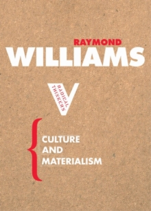Culture and Materialism, Paperback Book