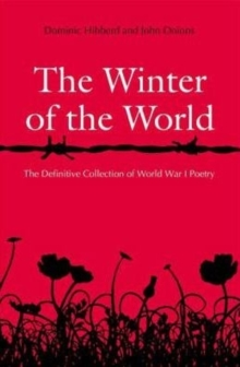 The Winter of the World : Poems of the Great War, Paperback Book