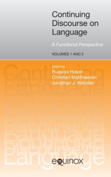 Continuing Discourse on Language : A Functional Perspective, Hardback Book
