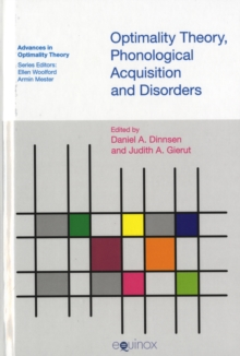 Optimality Theory, Phonological Acquisition and Disorders, Hardback Book