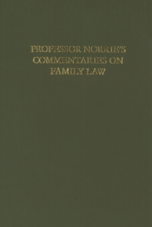 Norrie's Commentaries on Family Law, Hardback Book