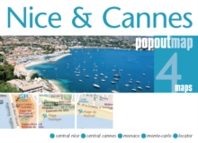 Nice & Cannes Popout Map, Sheet map, folded Book