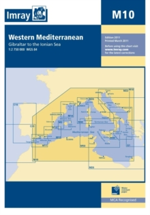 Imray Chart M10 : Western Mediterranean - Gibraltar to the Ionian Sea, Sheet map, folded Book