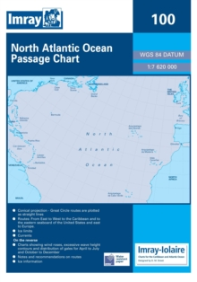 Imray Chart 100 : North Atlantic Ocean Passage Chart, Sheet map, folded Book