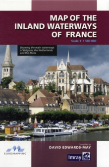 Map Inland Waterways of France, Sheet map, folded Book