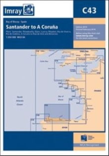 Imray Chart C43 : Santander to A Coruna, Sheet map, folded Book