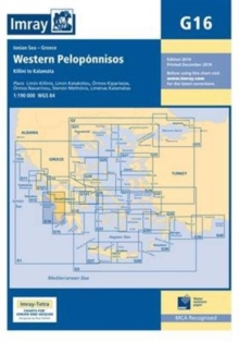 Imray Chart G16 : Western Peloponnisos, Sheet map, folded Book