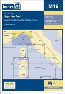 Imray Chart M16 : Ligurian Sea, Paperback / softback Book