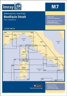 Imray Chart M7 : Bonifacio Strait, Sheet map, folded Book