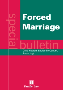 Forced Marriage : A Special Bulletin, Paperback / softback Book