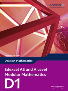 Edexcel AS and A Level Modular Mathematics Decision Mathematics 1 D1,  Book