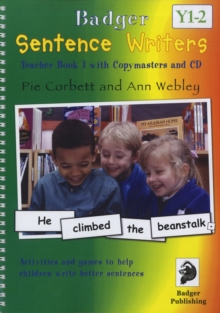 Sentence Writers Teacher Book & CD: Year 1-2 : Activities and Games to Help Children Write Better Sentences, Mixed media product Book