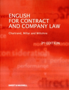 English for Contract & Company Law, Paperback Book