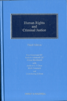 Human Rights and Criminal Justice, Hardback Book