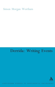Derrida : Writing Events, Hardback Book