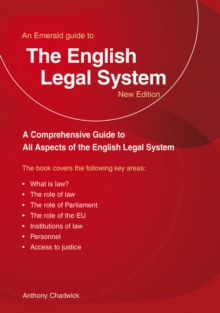 The English Legal System : An Emerald Guide, Paperback Book
