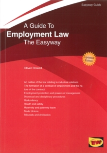 Guide to Employment Law : The Easyway - 2016, Paperback Book