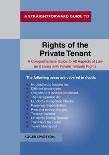 The Rights Of The Private Tenant, Paperback / softback Book