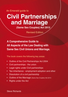 Civil Partnerships And (same Sex) Marriage, Paperback / softback Book