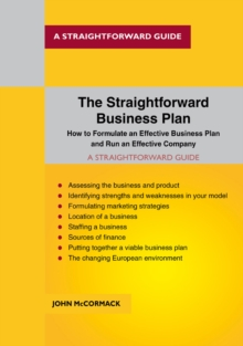 The Straightforward Business Plan, Paperback / softback Book