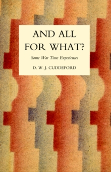 And All for What?, Hardback Book