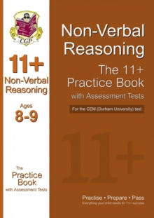 11+ Non-verbal Reasoning Practice Book with Assessment Tests (Age 8-9) for the CEM Test, Paperback Book