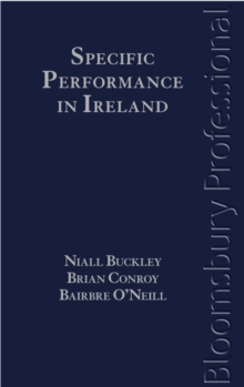 Specific Performance in Ireland, Hardback Book