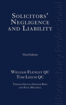 Solicitors' Negligence and Liability, Hardback Book