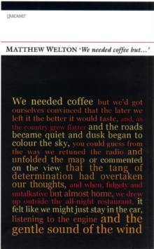 'We Needed Coffee but...', Paperback / softback Book