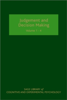 Judgement and Decision Making, Hardback Book