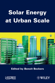 Solar Energy at Urban Scale, Hardback Book