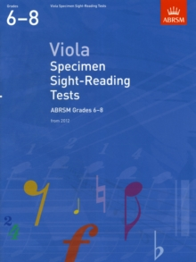 Viola Specimen Sight-Reading Tests, ABRSM Grades 6-8 : from 2012, Sheet music Book