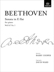 Sonata in E flat, WoO 47 No. 1 : from Vol. I, Sheet music Book