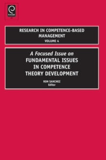 Research in Competence-Based Management, Hardback Book