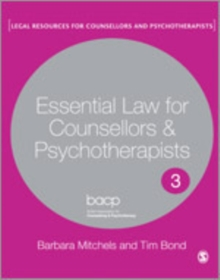 Essential Law for Counsellors and Psychotherapists, Hardback Book
