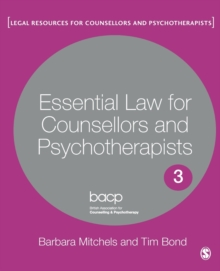 Essential Law for Counsellors and Psychotherapists, Paperback / softback Book