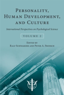 Personality, Human Development, and Culture : International Perspectives On Psychological Science (Volume 2), Hardback Book