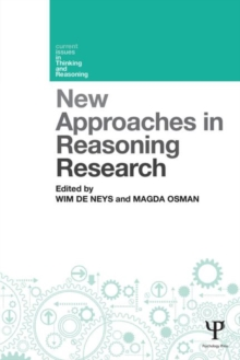 New Approaches in Reasoning Research, Paperback / softback Book