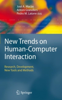 New Trends on Human-Computer Interaction : Research, Development, New Tools and Methods, Hardback Book