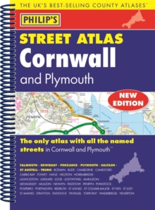 Philip's Street Atlas Cornwall and Plymouth, Spiral bound Book