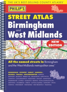Philip's Street Atlas Birmingham and West Midlands, Spiral bound Book