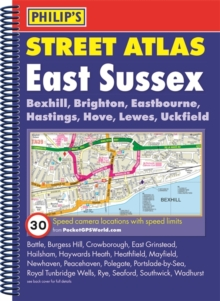 Philip's Street Atlas East Sussex, Spiral bound Book